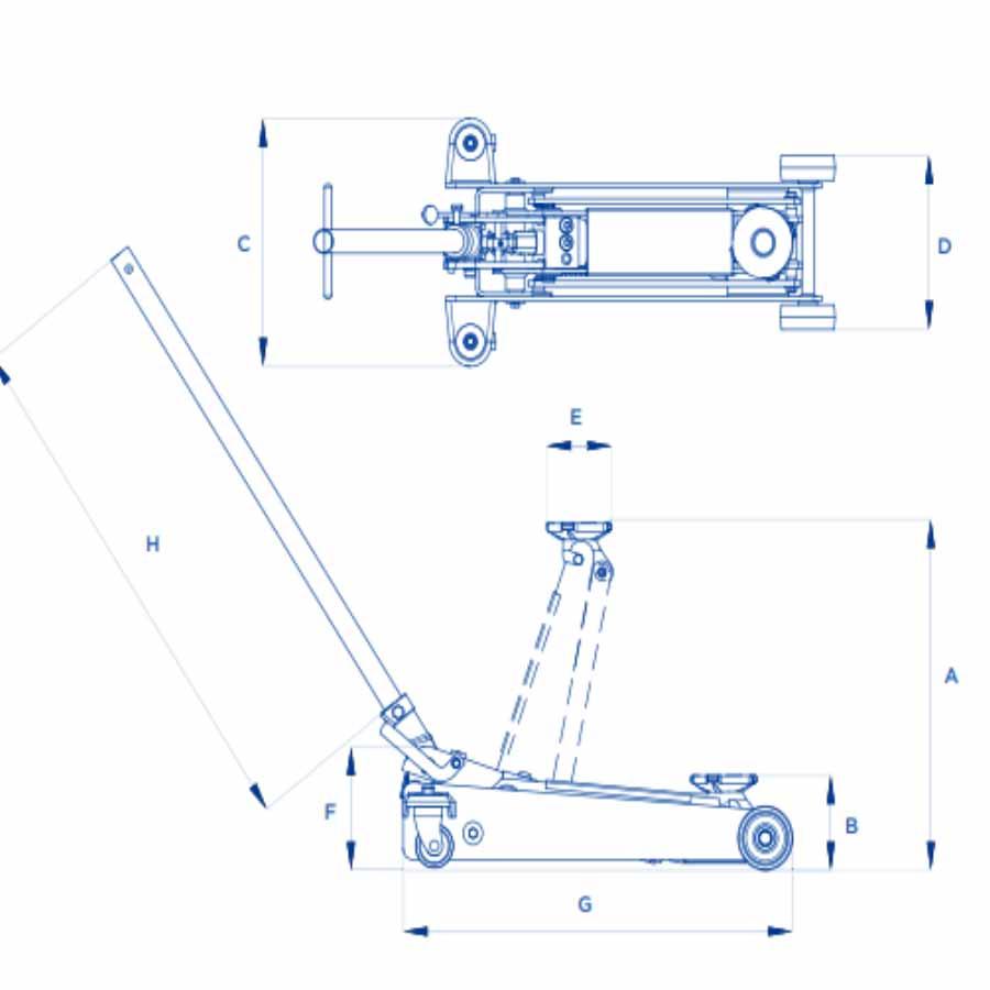 Sollevatore idraulico a carrello OMCN 112